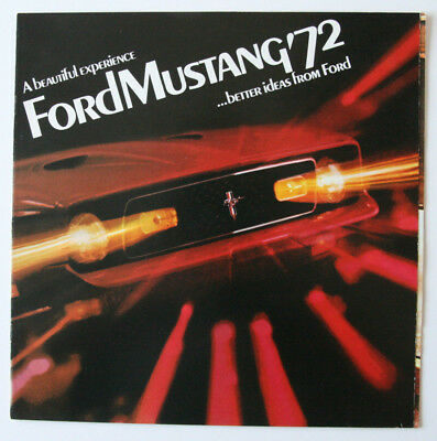 FORD MUSTANG 1972 dealer brochure - English - Canada