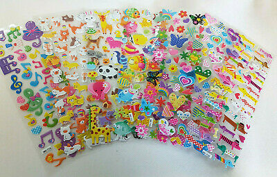 Various Designs Childrens Puffy 3D Stickers: Zoo Animals, Fish Craft Scrap Books