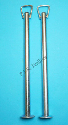 2 x 34mm dia. x 600mm Prop Stands with HANDLE - Trailer Corner Steady