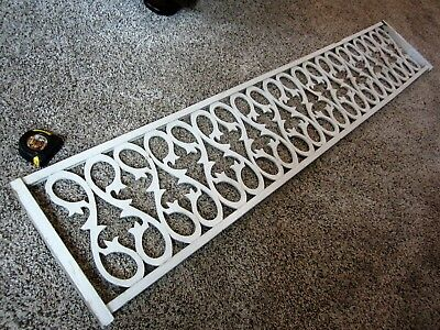 LARGE Shabby Tiger Oak? Doorway Fretwork Chic Ornate Victorian Carved Trim Panel