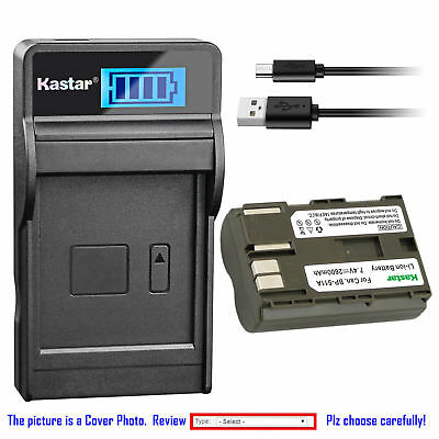 BP-511 Battery or Slim LCD Charger for Canon PowerShot G1 G2 G3 G5, G5 Pro, G6