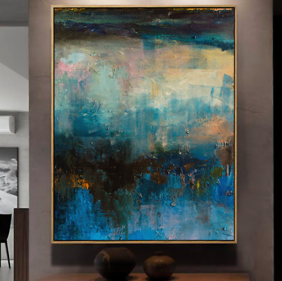 YA973 Modern 100% Hand-painted Abstract Scenery oil painting On canvas Color