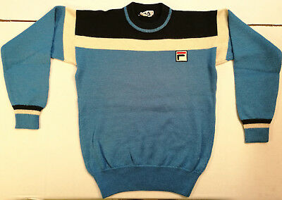 Fila Pullover Pullover Jersey Blau Hellblau Pullover Vintage Wolle Wolle '80S
