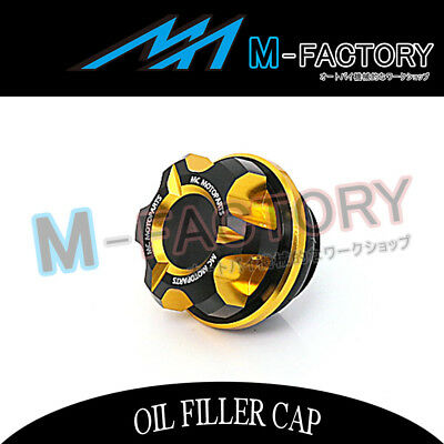 Motorcycle Engine Gold CNC T-Axis Oil Filler Cap Fit Honda CB1000R CBR250R