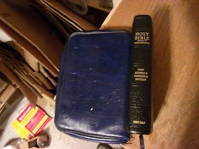Vintage Bible SCOFIELD King James Version Oxford Press 1969 Leather Case