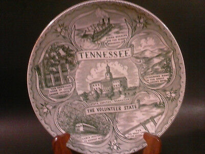 """Tennessee - The Volunteer State - Souvenir Plate - Green  - 10 1/4"""""""
