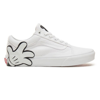 Vans Old Skool White Trainers Shoes Disney Mickey VN0A38G1UNC - UK 4 5 6 7 8 9