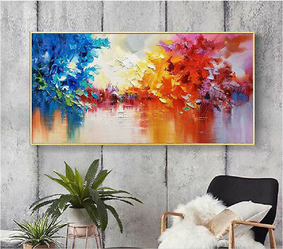 YA981# Large Modern 100% Hand-painted abstract landscape oil painting On canvas