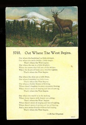 Out Where the West Begins-poem by Arthur Chapman-