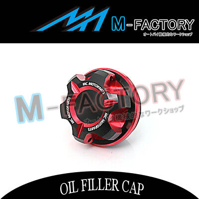 Motorcycle Engine Red CNC T-Axis Oil Filler Cap Fit Honda CB1000R CBR250R