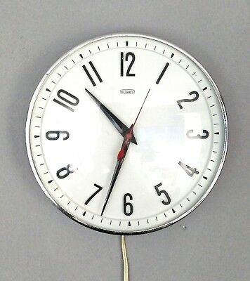 Vintage retro 1950s Mid Century Metamec Electric white Wall clock
