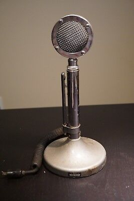 The Astatic Corp Silver Eagle CB HAM Radio Microphone Made In USA - Untested