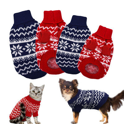 Winter Knit Dog Cat Jumper Small Dogs Puppy Cat Sweater Coat Apparel Clothing