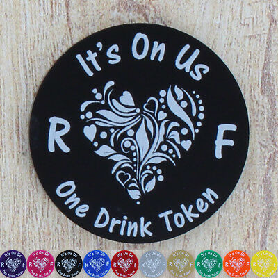 Wedding Party Drink Token Hen Do Guest Free Bar Drinks Personalised Favours x 10