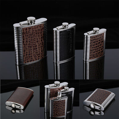 5 6 7 8 9 10 oz Stainless Steel Hip Liquor Alcohol Flask Cap Wine Bottles Gifts
