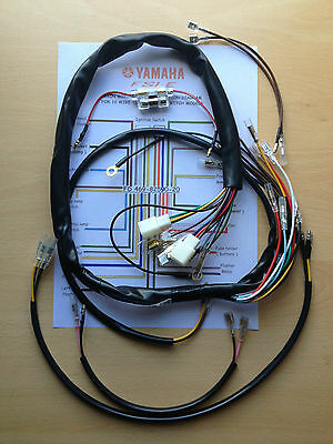 Yamaha fs1e fs1e-dx 1975 - 1977 10 Wire Top  ignition wiring loom kit - new