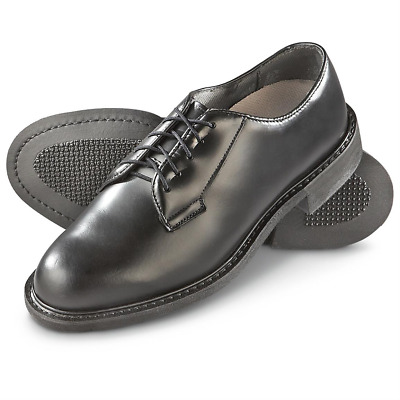 SOFT SOLE LEATHER Uniform Oxford Dress Shoes Black military duty ... 3aa27f41f0a