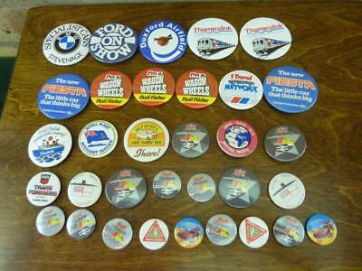 A small collection of 33 vintage Transport related metal  badges rail riders Etc