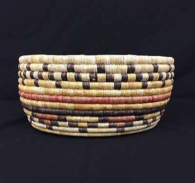 Unique! Vintage Native American (Hopi) Coiled Basket - Second Mesa