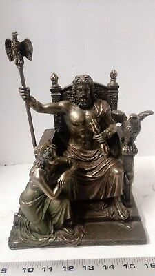 """11"""" Zeus and Hera At The Throne Figure"""