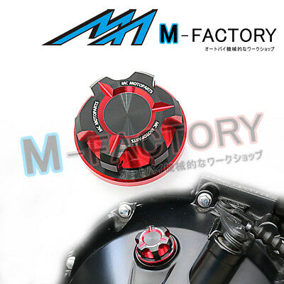 Motorcycle Engine Red CNC T-Axis Oil Filler Cap Fit Aprilia ETV 1000 Tuono 1000