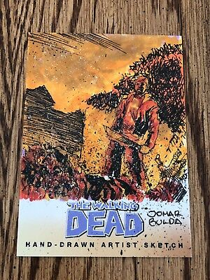 Walking Dead Hand Drawn Artist Sketch Rick Grimes 1/1 AMC 2013