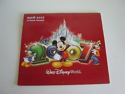 Collectible! Walt Disney World 2006-2007 16 Month Wall Calendar