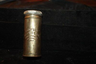 "Antique 1917 ""Handy Grip"" Shaving Stick Tin by Colgate Container Only"