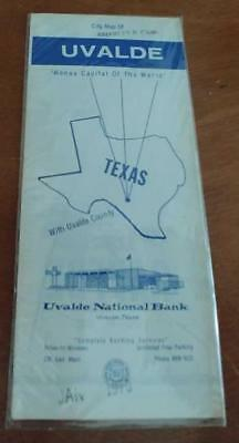 Vintage map new old stock never opened uvalde texas 1970 ep01