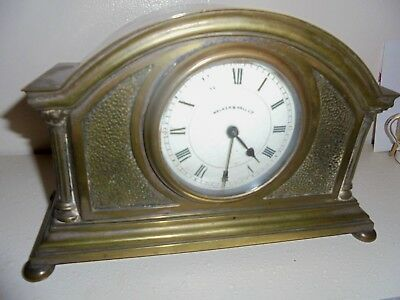 solid brass edwardian mantle clock by walker and hall