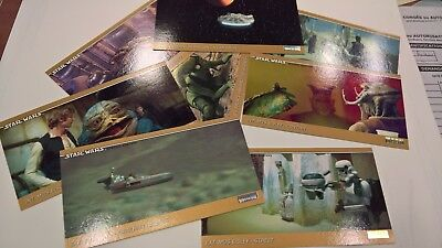8 cartes STAR WARS SPECIAL EDITION Topps Widevision