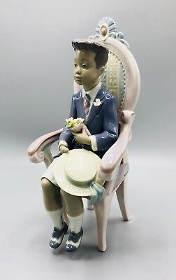 "Lladro #5909 ""All Dressed Up Lladro"" Black Legacy Collection Handmade Porcelain"