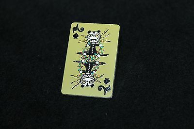 Disney Nightmare Before Christmas Mystery Playing Card Pin - Scary Teddy