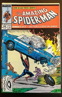 Amazing Spider-man #306, VF/NM, Todd McFarlane Cover Homage to Action Comic #1