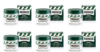 Proraso Pre-Shave Cream, Refreshing and Toning, 3.6 oz (6 Pack)
