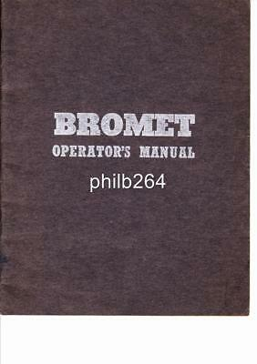 Vintage 1950's Bromet operators manual 'For the man on the job' tungsten tools