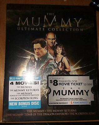 The Mummy Ultimate Collection (Blu-ray)+ Digital Hd Brand New
