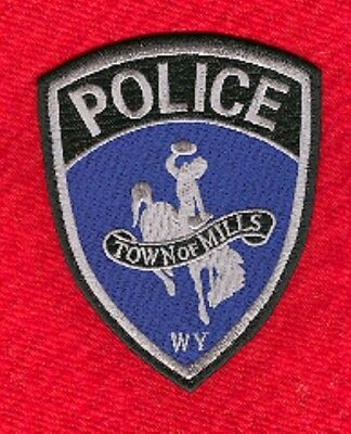 Law Enforcement Patch--Mills Wyoming--New*