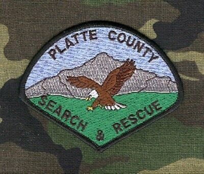 Law Enforcement Patch--Platte County Wyoming Search & Rescue--New*