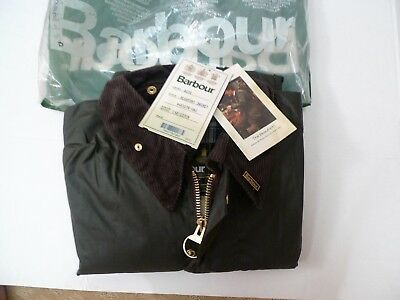 Barbour -A150 Beaufort Wax Cotton Jacket- Sage-New Old Stock W/tags-Made@uk-50