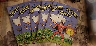 Lot of 5 Carvel Ice Cream Games and Puzzles to color book from the 70s