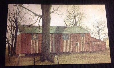 UNFRAMED 6x10 canvas Primitive Americana Red Barn Country Home Wall Decor New