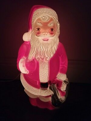 """Vintage Empire Santa Blow Mold Christmas 1960s 13"""" Lighted"""