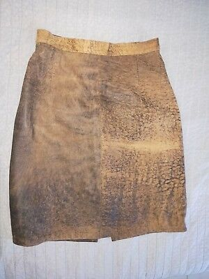 women's vintage leather skirt
