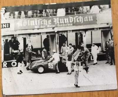 """Nurburing Early 60's Original Photograph. 8"""" X 10"""" Page 220 In Abarth Guide"""