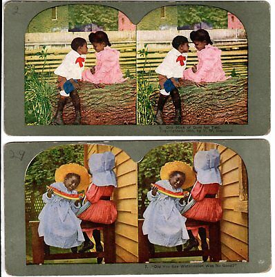 2 - 1898 T. W. Ingersoll Vintage Black Stereo Cards