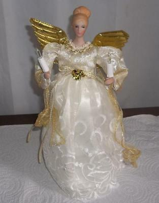 NEW  Pretty Lighted Angel Tree Topper   10 ins. tall     Must See