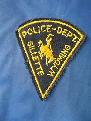 """4 12"""" Gillette, Wyoming (1st Issue Cheesecloth) Police sheriff Patch WY"""
