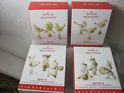 Hallmark 2016 12 Little Days of Christmas; All 12 Days New in Box