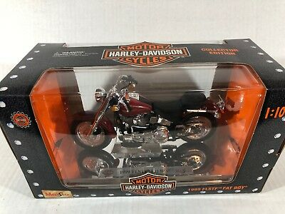 Maisto Harley Davidson 1999 Flstf Fat Boy 1/10 Scale Motorcycle
